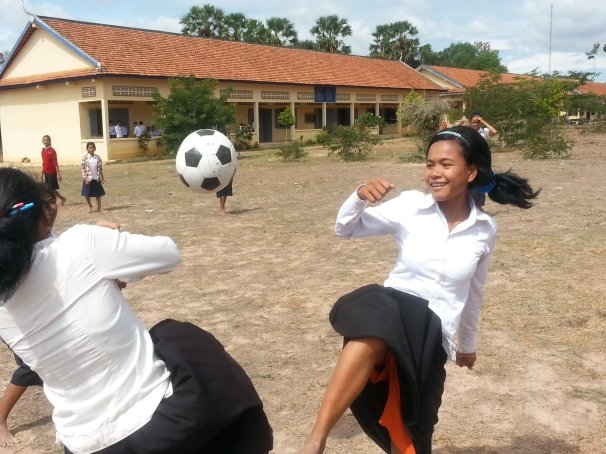 A CFF student-led program to bring organized sports to Kampong Speu Province.