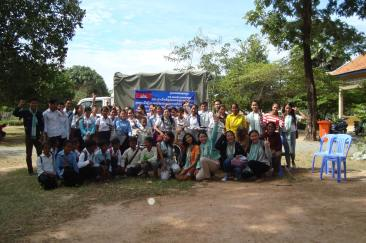 Recipients of bicycles provided by Cambodia's Future Foundation.