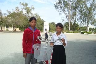 Providing bicycles so children can get to school.