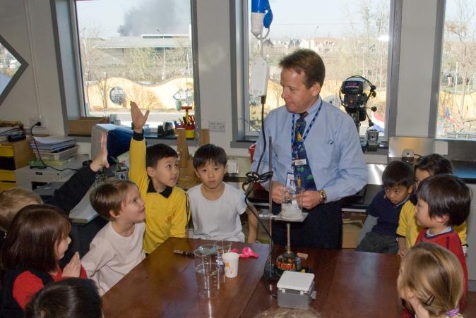 As school director - guest science teacher.