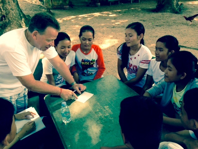 Project-based learning to Cambodian high school students.