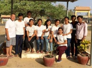 Cambodian university scholarship students.