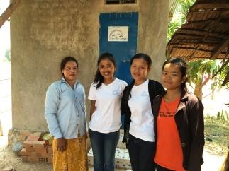 CFF students installing sanitation units for deserving families.