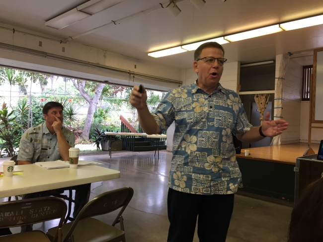 Robert Landau facilitating a strategic planning session in Hawaii.
